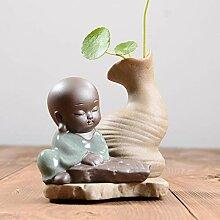 SHFives Keramikvase Little Monk Decor Tischvase