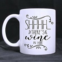 Shhh There's Wine in Here Coffee Mug 11 Ounce