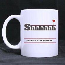 Shhh There's Wine in Here Coffee Mug Ceramic