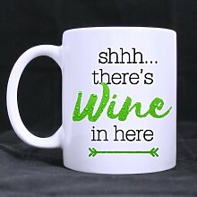 Shhh There's Wine in Here Coffee Mug Gift Idea