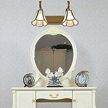 SHIEND Continental vor dem Spiegel Lampe wc minimalistische amerikanische retro Spiegel lampe Spiegel Lampe idyllische wc Lampen, drei Kopf (mit drei Schatten LED? ausgestatte