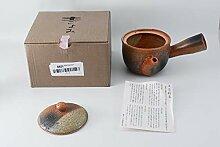 Shigaraki Pottery Midori Mamekake Kyusu Teekanne