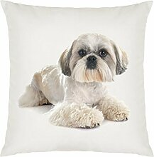 Shih Tzu Image Design Large Cushion Cover with Filling