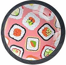 Shiiny Süße bunte Sushi-Rollen, Schubladenknauf,