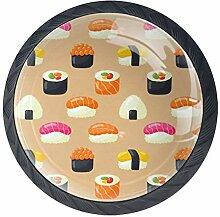 Shiiny Sushi-Schubladenknauf, nahtloses Muster,