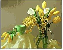 SHILLPS Blumenbild DIY Malerei Nach Zahlen Malerei