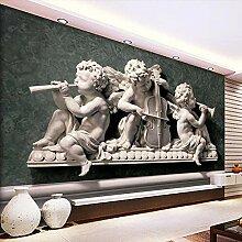 Shimybend 3D Wandbild Tapete Mit Stereo Gips Engel