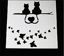 SHINA DIY Spitze Katze Kuchen Schablone Fondant Seitenform Backen Dekoration-Werkzeuge
