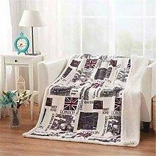 SHINA Fleece-Decke für Sofa Bettwäsche eingestellt polare Platten 130cm * 160cm (london)