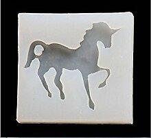 SHINA Silikon 3D Pegasus Einhorn Form Kuchen Dekorieren Backen Werkzeuge