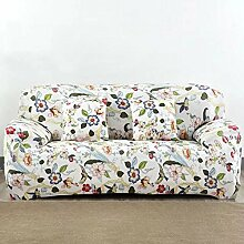 shinemoon Elastic Easy Fit Sofa Hussen Couch Strechhusse Pet Displayschutzfolie Sessel Stretch-Abdeckungen, Polyester, Birds & Flowers, 3-Sitzer