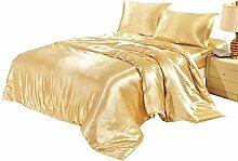 shinemoon Heimtextilien, Satin Luxus Bettbezug