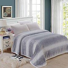 shinemoon Luxus Super Sofa Home warme Decke Überwurf für Bett, Couch Outdoor-Reise Camping Decken für kalte, 100 % Polyester, grau/weiß, 200x230cm
