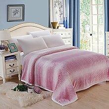 shinemoon Luxus Super Sofa Home warme Decke Überwurf für Bett, Couch Outdoor-Reise Camping Decken für kalte, 100 % Polyester, rot / weiß, 180x200cm
