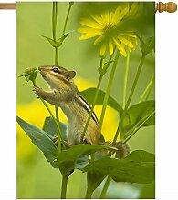 ShineSnow Frühlings-Fahne, Tierblumen,