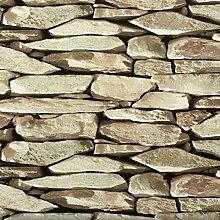 SHININGCOLOR Fototapete Steinoptik - 0.53x10M -