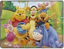 SHINIUCUN Winnie Pooh Teppich für Wohnzimmer,
