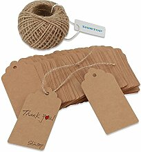Shintop 100PCS Kraft Paper Gift Tags Bonbonniere