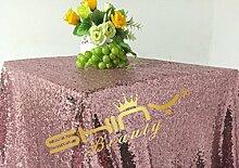 shinybeauty 120cmx180cm Pink Pailletten Tischdecke für Hochzeit/Event/Party/Bankett (121,9x 182,9cm)