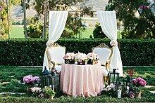 shinybeauty 120inch-round-pink–Pailletten Tischdecke & #-; shimmer Pailletten Stoff Tischdecke Bed Room Linens Glitzer Pailletten tabblecloth für Hochzeit Party Bankett Linens Dekoration