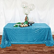 shinybeauty 121,9x 182,9cm türkis Pailletten Tischdecke Overlays für Hochzeit Party Pailletten Overlays