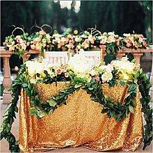 ShinyBeauty 150cm x 300cm Gold Pailletten Tischdecke, Großhandel Hochzeit Schöne Gold Pailletten Tabelle Tuch/Overlay/Cover #70