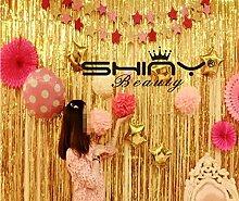 shinybeauty® 3ftx8ft Metallic Gold Folie