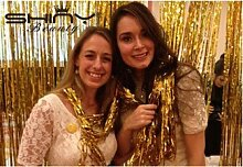 shinybeauty® 3ftx8ft Metallic Silber Folie Fransen Vorhänge Tür Fenster Vorhang Party Dekoration, gold, 3FTx8FT