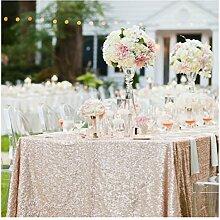 ShinyBeauty 48cm x 183cm, Pailletten-Tischdecke, für Hochzeit/Party/Dekoration, champagnerfarben, 48x72-Inch