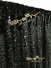 ShinyBeauty 4ftx8ft xmas - party im pailletten - kulisse fotografieren, hochzeit im freien foto vorhang, home party dekoration schwarz