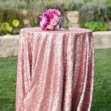 shinybeauty 72in rund Pailletten Tischdecke/Hochzeit Schönes Pailletten Tischdecke/Overlay/Cover, Fushia Pink, 72in Round