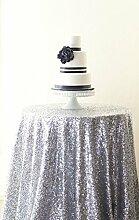 shinybeauty 72in rund silber Pailletten Tischdecke, Großhandel Hochzeit Schönes Silber Pailletten Tisch Tuch/Overlay/Cover