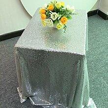 ShinyBeauty 72x72inch Silber Glitzernden Pailletten Tischdecke für Hochzei