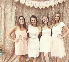 shinybeauty 8ftx8ft Pailletten Hintergrund Fotografie für Hochzeit/Party Event (240x 245cm) Champagne