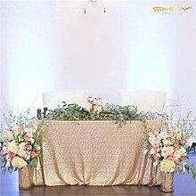 ShinyBeauty Champagner Rectangular Tablecloth
