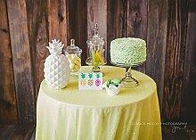 shinybeauty gelb 125cm Pailletten Tischdecke rund Glitzer Circular Pailletten Tischdecke Cool Schwarz Pailletten Tischdecke bei Hochzeitsfeier Geburtstag PAR, Digi Abendessen Festtafel Linens Dekoration