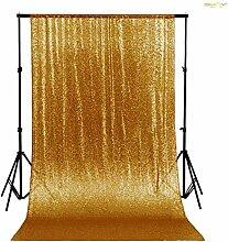ShinyBeauty Gold 125x215cm Pailletten Tischdecken