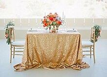 shinybeauty Gold Pailletten Tischdecke für Hochzeit oder jeder Veranstaltungen Custom Sparkle Pailletten Tischdecken Overlays Dekoration, Silber, 72inx72in