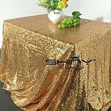 shinybeauty gold-sequin Tischdecke, Glitz Pailletten Tischdecke Leinen, Glitz Tisch Overlay. Großhandel von Pailletten tablecloth-60X 259,1cm