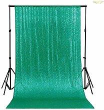ShinyBeauty Grün 125x215cm Pailletten Tischdecken