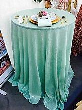 ShinyBeauty Hell blau-Pailletten Tischdecke-120-Zoll-Runde, Großhandel Pailletten Bettwäsche/Glitzernde Pailletten Overlays/Covers(120-Inch)