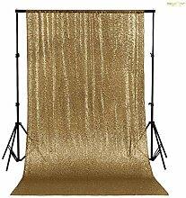 ShinyBeauty Kupfer 125x215cm Pailletten