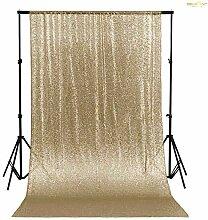 ShinyBeauty Licht Gold 125x215cm Pailletten