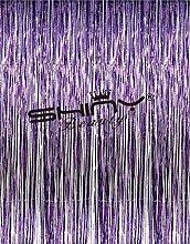 ShinyBeauty® Lila Lametta Folie Fringe Hintergrund Tür Fenster Vorhang Party Dekoration