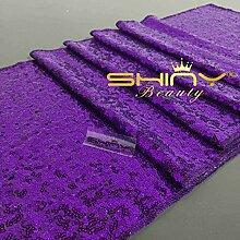 ShinyBeauty lila Pailletten Tischläufer - 14 x 132 Zoll - Hochzeit Dekoration - Hochzeit Tischläufer