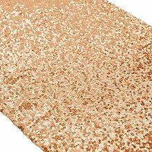 ShinyBeauty Marineblau Pailletten Tischläufer Großhandel-Rosa Gold Pailletten Tabelle Runner(30x275cm)