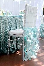 shinybeauty mint Pailletten tablecloth-90inch rund glänzend Pailletten Glamorous Tischdecke für Hochzeit/Gathering/, Tischdekoration