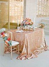 ShinyBeauty Mit hoher Dichte 150x300cm Rose Gold Pailletten Tischdecke Glitter Tabelle Overlays