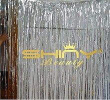 shinybeauty® New Metallic fransen Vorhang Party Folie Lametta Room Decor 3ftx8ft Tür machen