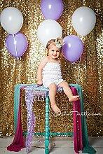 ShinyBeauty Pailletten Hintergrundt-Gold-125x245cm Foto-Stand Fotografie Dekoration